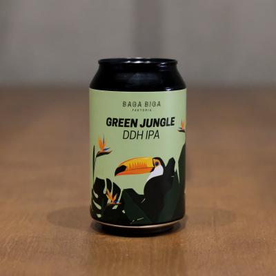 Lata de cerveza artesana Green Jungle
