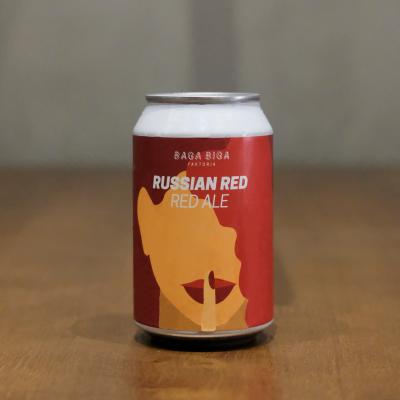 Lata de cerveza artesana Russian Red