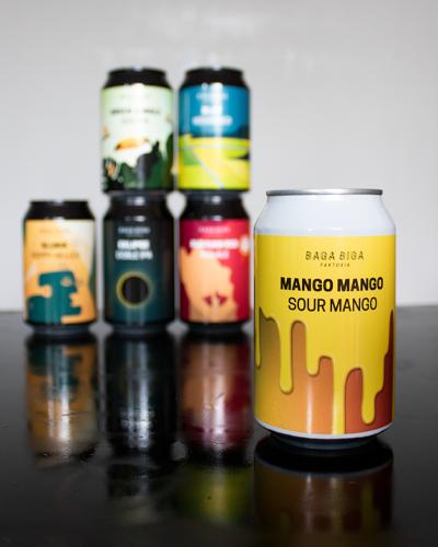 latas cerveza artesana baga biga